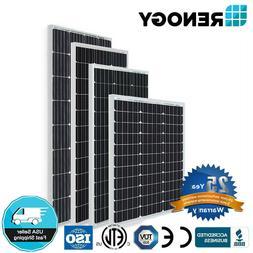 Renogy 50W 80W 100W 160W Mono Solar Panel 100W 12V Volt Off