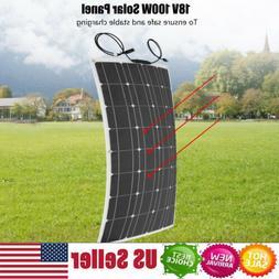 NEW HQST 100W 18V Mono Solar Panel 100 Watt 12 Volt Monocrys