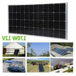 NEW Moncrystalline 170 Watt 170W 12V Solar Panel Mono Module