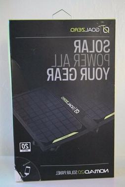 NEW Goal Zero Nomad 20 Solar Panel Foldable Portable Weather
