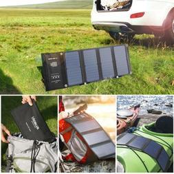 Newest SUAOKI 28W Portable Solar Charger Panel 3 USB Ports Q