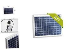 Newpowa 10 Watts 12 Volts Monocrystalline Solar Panel 10W 12