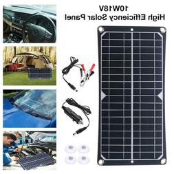 Newpowa 10W Watt 18V Solar Panel RV Car Outdoor Generator Ca