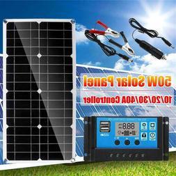 Newpowa 50W Watt 18V Solar Panel PWM 10A Charge Controller 3