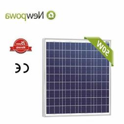 NewPowa High efficiency 50W 12V Poly Solar Panel Module RV M