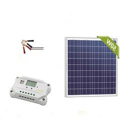 Newpowa 50w Watt 12v Solar Panel + PWM 10A 12V Charge Contro