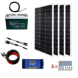 Off Grid 100 Watt to 400 Watt Solar Complete Kit  100ah batt