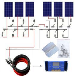 Off Grid Solar System Kit 100W 200W 600W Charging 12V 24V Ba