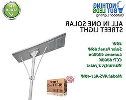All in One Solar Street Light 40W, Color Temperature 6000K,