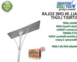 All in One Solar Street Light 60W, Color Temperature 6000K,
