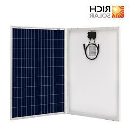 Open Box RICH SOLAR 100 Watt 12V Polycrystalline Solar Panel