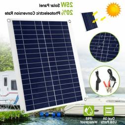 Outdoor 25W 12V Car Boat Yacht Solar Panel Trickle Battery C