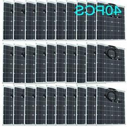Outdoor 50W Watts 12V Monocrystalline Solar Panel Off Grid K