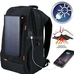 Outdoor Laptop Shoulder Camera Bag Detachable Solar Panel Ba