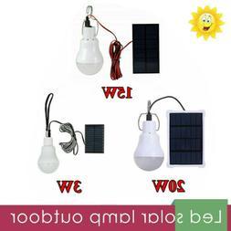 Outdoor LED Power Solar Lamp Tent Energy Light Panel Yard Po