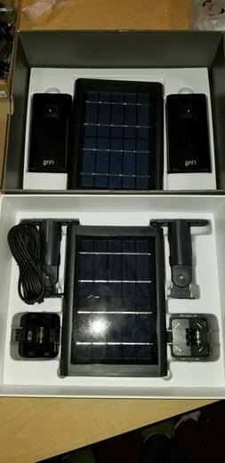 Ring Outdoor security camera kit, 2x Solar stick up cameras