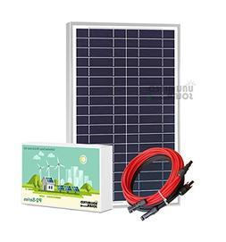 Unlimited Solar P2 Series 20 Watt 12 Volt Off-Grid Solar Pan
