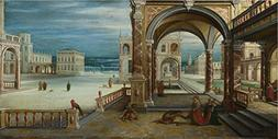 Oil Painting 'Hendrick Van Steenwyck The Younger The Courtya