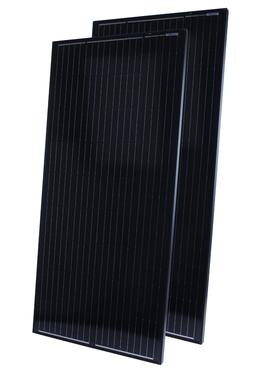 Pair of 200W Solar Panels compatible w/ 12v battery, Black o