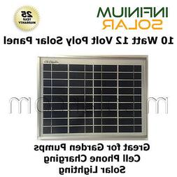 10W 10 W 12V Infinium Solar Panels Off Grid Battery Charging