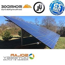 5000w 5kW Solar Panel Kit Grid-Tie and Ground Mount System 5