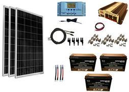 WindyNation 300 Watt  Solar Panel Kit + 1500 Watt VertaMax P