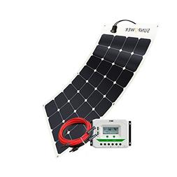 Solar Panel 100W Watt 12V PV Off Grid Solar Kit RV, Boat, Ca