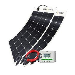 Solar Panel 200W Watt 12V PV Off Grid Solar Kit RV, Boat, Ca
