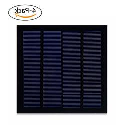 SUNWALK 4 Pieces 1.5W 6V PET + EVA Solar Cell Mini Sized Enc