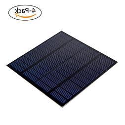 SUNWALK 4 Pieces 1.5W 12V PET Laminated Solar Panel Mini DIY