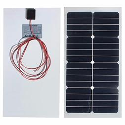 20W 12V 54CM x 28CM Photovoltaic semi flexible Solar Panel W
