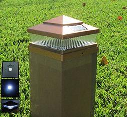 4 Pack Garden Sunlight Plastic Copper 6x6 Outdoor 5 LED 78lu