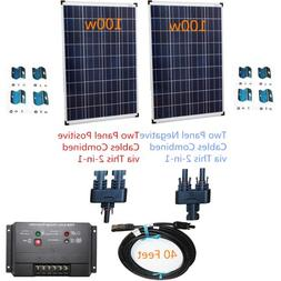 PowerFree Plug-n-Power 2-in-1 Space Flex 200w Two 100w Solar