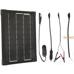 Plug-n-Power 10w SuperBlack Solar Panel Charger with Your Ch