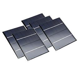 uxcell 5Pcs 6V 200mA Poly Mini Solar Cell Panel Module DIY f