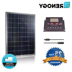 Renogy Solar Panel Kit 100 Watt Poly Off Grid Home PWM 30A L