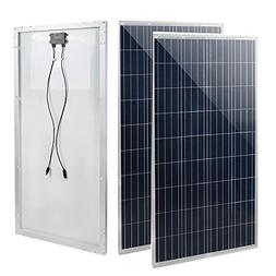 ECO LLC 300W 2pcs 150W 12V Poly Solar Panel for Off Grid Sol