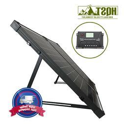 100W 12V Polycrystalline Foldable Solar Suitcase w/ Controll