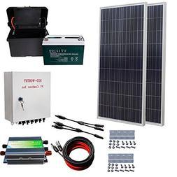 ECO-WORTHY 300 Watt Polycrystalline Off Grid Solar Battery C