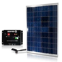 Genssi 100W Polycrystalline Photovoltaic PV Solar Panel Modu