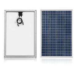 ACOPOWER 100w Panel, Polycrystalline PV Solar Charger with M