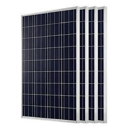 ECO-WORTHY 400 Watts 4pcs 100W Polycrystalline PV Solar Pane