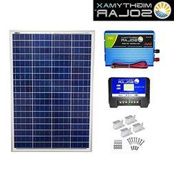 100 Watts 12 Volts Polycrystalline Solar Bundle Kit - Mighty