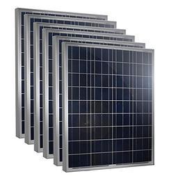 6 Pieces of HQST 100 Watt 12 Volt Polycrystalline Solar Pane
