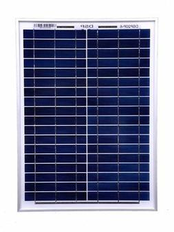 DOKIO 20W Polycrystalline Solar Panel for 12 V Battery Charg
