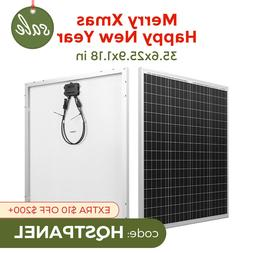 HQST 100 Watt 12 Volt Polycrystalline Solar Panel Kit with 1