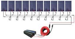 1KW 10pcs 100W Polycrystalline Solar Panel with 1000W Grid T