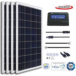 KOMAES 400 Watts 12Volts Polycrystalline Solar Panel with En