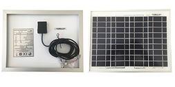Renepv 10 Watts 12 Volts Polycrystalline Solar Panel 10W 12V