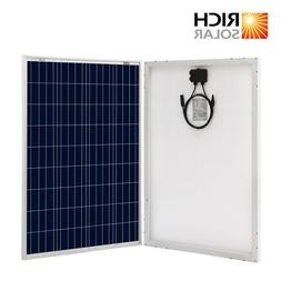 Richsolar 100 Watt Polycrystalline 100W 12V Solar Panel High